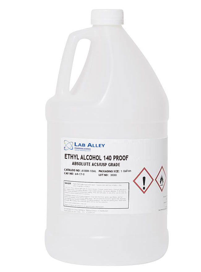 Buy 100% Alcohol | Ethanol 140 Proof, Non-Denatured, Pure Food Grade, Tax Paid, 1 Gallon