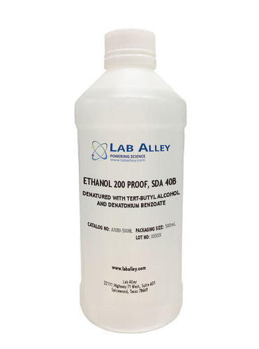 Ethanol 200 Proof, SDA 40B, 500 mL
