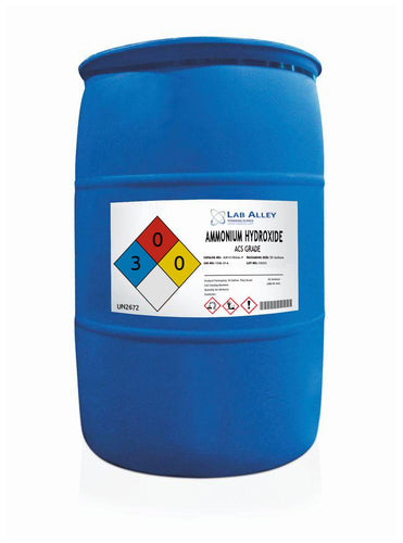 Ammonium Hydroxide, ACS Grade, 55 Gallon Plastic Drum
