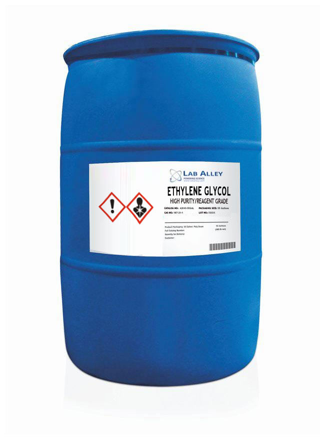 Ethylene Glycol, High Purity/Reagent Grade, 55 Gallon Poly Drum