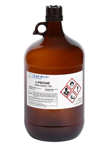 n-Pentane, High Purity, 99%, 4 Liter