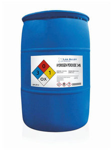 35% Hydrogen Peroxide | 55 Gallon Drum | Food Grade | Diluted to 34%