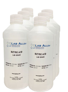 Butyric Acid (Butanoic Acid), Lab Grade, 6x500ml