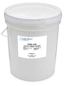 Citric Acid, USP/FCC Grade, Kosher, 12 kg