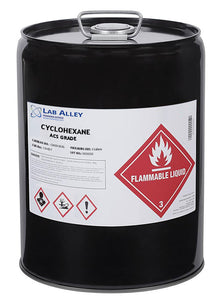 Cyclohexane, ACS Grade, 5 Gallons