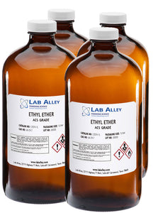 Ethyl Ether, ACS Grade, 4x1 Liter Case