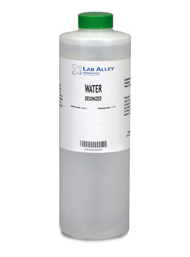 Deionized Water Lab Gradeб 1 Liter