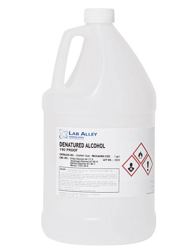 Buy Denatured Alcohol (190 Proof) For Sale | 1 Gallon | $79.99