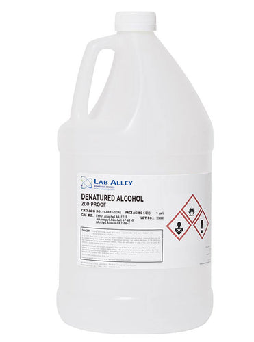 Denatured Ethanol 200 Proof, SDA-3A Ethanol, Denatured Alcohol, 1 Gallon