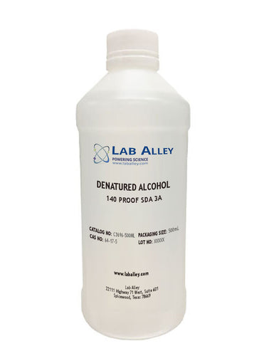 Specially Denatured Alcohol 140 Proof SDA 3A, 500mL