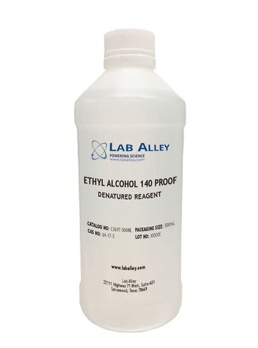 140 Proof Ethanol | Denatured | 70% Ethyl Alcohol | 500mL
