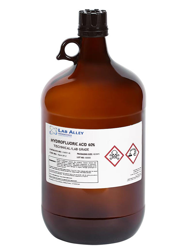 Hydrofluoric Acid 60% | Technical And Lab Grade 4L