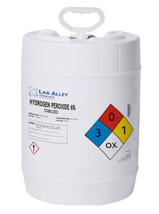 Hydrogen Peroxide, Lab Grade, With Stabilizer, 6%, 20 Liters