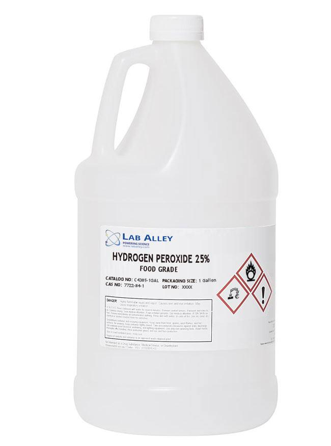 25% Hydrogen Peroxide | Food Grade 1 Gallon