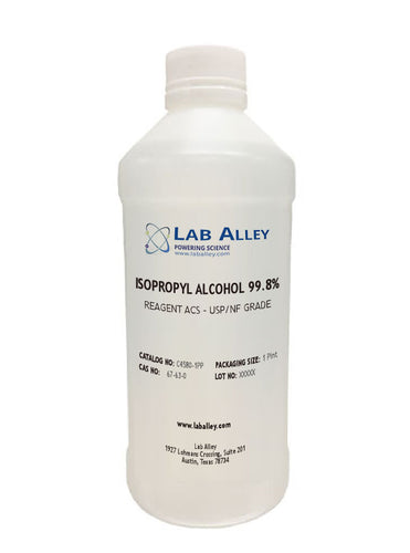 Isopropyl Alcohol (IPA), 99.8% 1 Pint