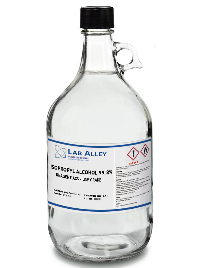 Isopropyl Alcohol (IPA), 99.8%, ACS/USP Grade, 2.5 Liter