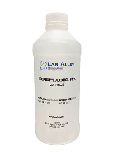 Isopropyl Alcohol, Lab Grade, 91%, 500ml