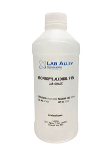 Alcohol isopropílico, grado de laboratorio, 91%, 500 ml