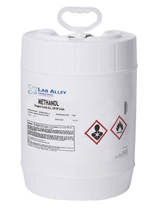 Methanol (Methyl Alcohol), Reagent ACS, USP/NF Grade, 5 Gallon Pail, Poly