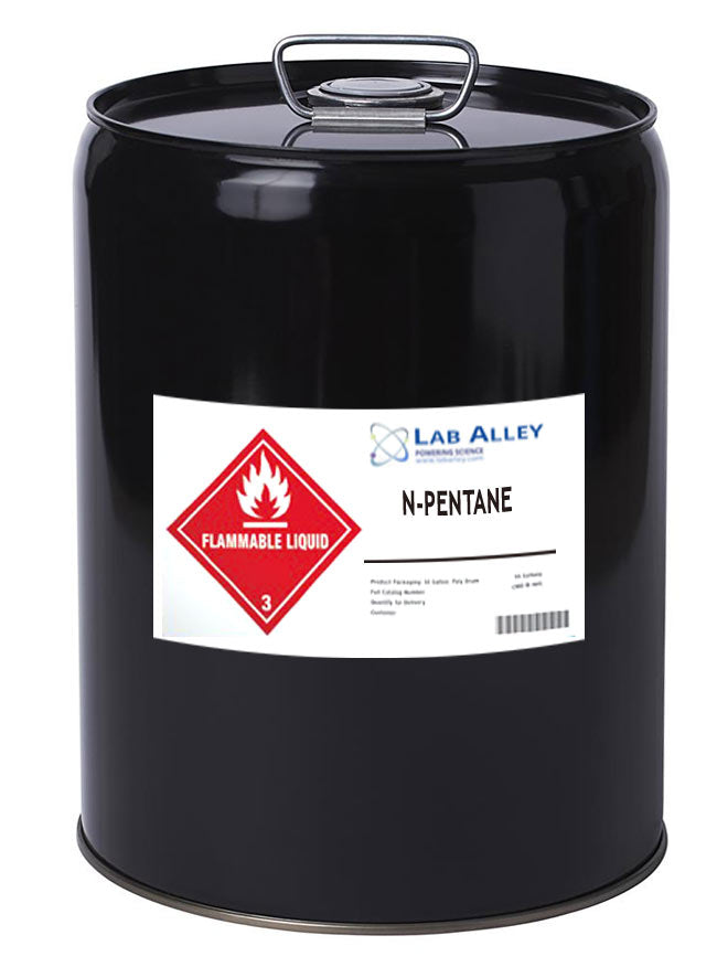 n-Pentane, 5 Gallon Metal Drum