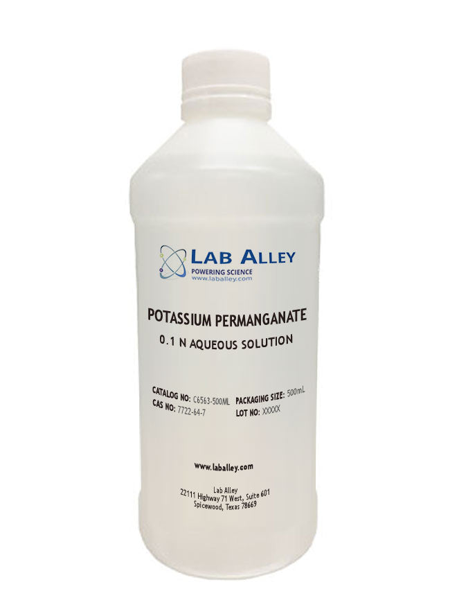 Potassium Permanganate Solution | 0.1 N Solution | KMnO₄ | Aqueous Solution | 500ml