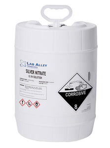 Silver Nitrate 0.1N Solution 5 Gallons