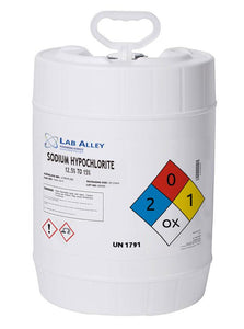 Sodium Hypochlorite 12.5% to 15%, 20 liters
