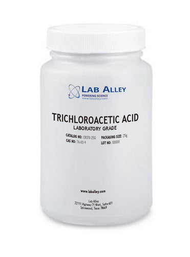 Trichloroacetic Acid Crystals, Lab Grade, 99% Purity, 25g