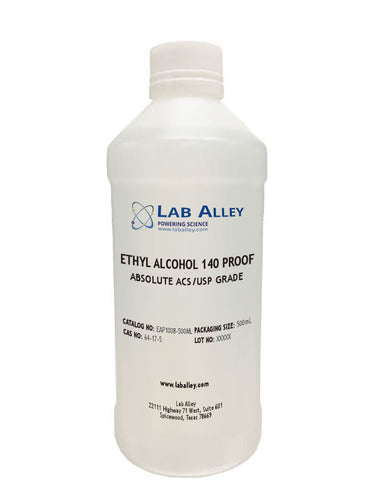 Ethanol 140 Proof, Undenatured, Pure Food Grade, Tax Paid,  500ml