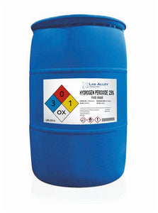 Hydrogen Peroxide, Food Grade, 25%, 55 Gallon Drum