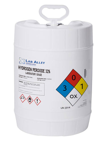 Hydrogen Peroxide 32% | Lab Grade | 5 Gallon Case
