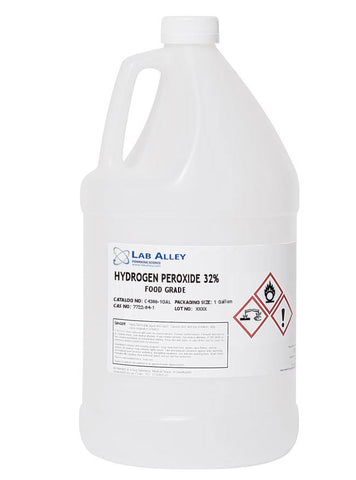 1 Gallon | $90 | 32% Food Grade Hydrogen Peroxide | Food Grade Does Not Have Toxic Stabilizers In The Solution