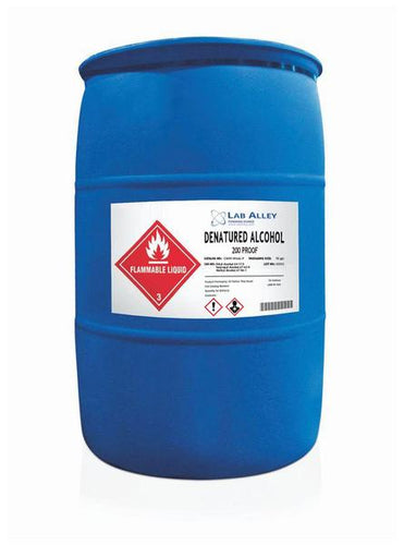 Denatured Alcohol Disinfectant | Bulk 55 Gallon Drum | 100% | 200 Proof Ethanol | Formula C2H5OH | Buy Ethyl Alcohol For Solvent & Antiseptic Uses, Surface Cleaning Wipes, Disinfection Sprays, Sterilization & Extract Tinctures