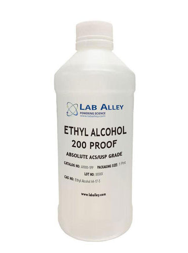 Food Grade Ethanol | 100% Alcohol | 200 Proof | Pure Ethyl Alcohol | Non-Denatured | ACS/USP Grade