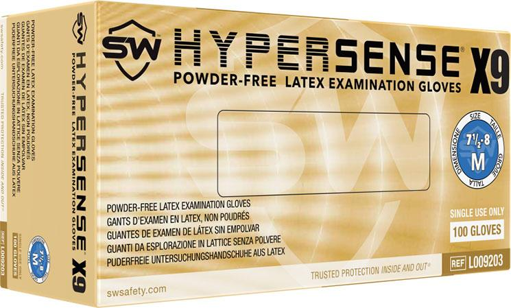 Hypersense X9 Latex Powder-Free Exam Gloves