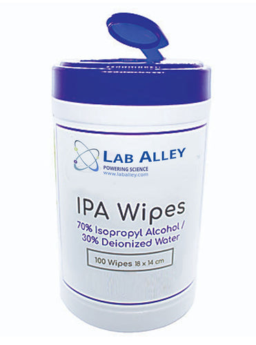 Isopropyl Alcohol Wipes, 70% Isopropyl Alcohol and 30% Deionized Water, Polyester