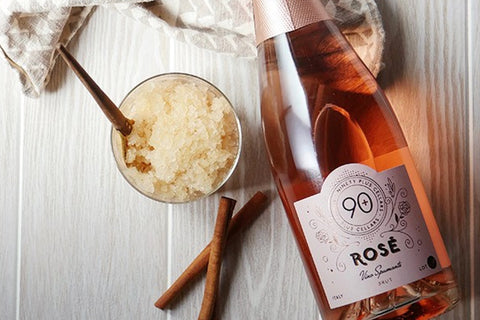 Lot 49 Sparkling Rosé paired with Sweet and Spicy Apple Granita