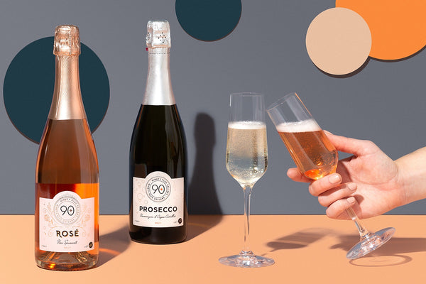 Make life bubbly with 90+ Cellars Prosecco and Sparkling Rosé!