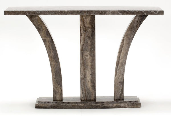 Amalfi Marble Pearl Grey Console Table