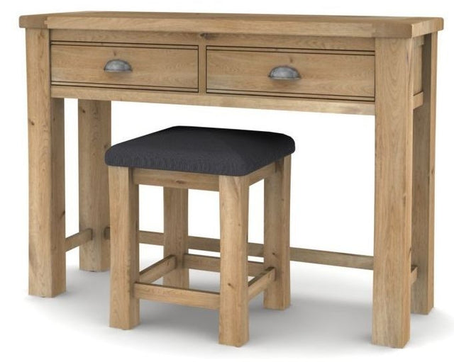 Breeze Oak Dressing Table with Stool