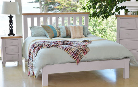 Clemence Grey Painted Bed