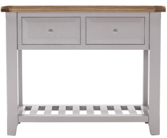 Clemence Grey Painted Console Table Large