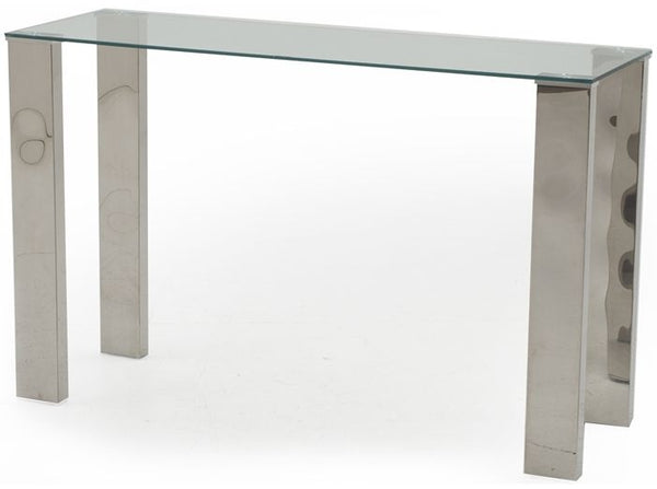 Mezzi Glass Console Table