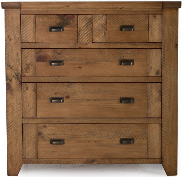 New Forest Reclaimed Pine 5 Tall Chest of Drawer