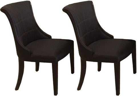 Ravelli Faux Leather Dining Chair Brown (Pair)