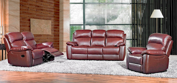 Aston Leather Sofa Fixed/Recliner