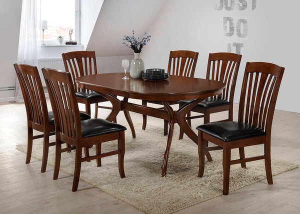 Brittany set with 6 chairs