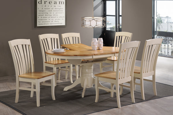 Normandy Cream & Oak Dining Set