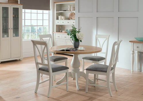 Chalk Round Dining Set