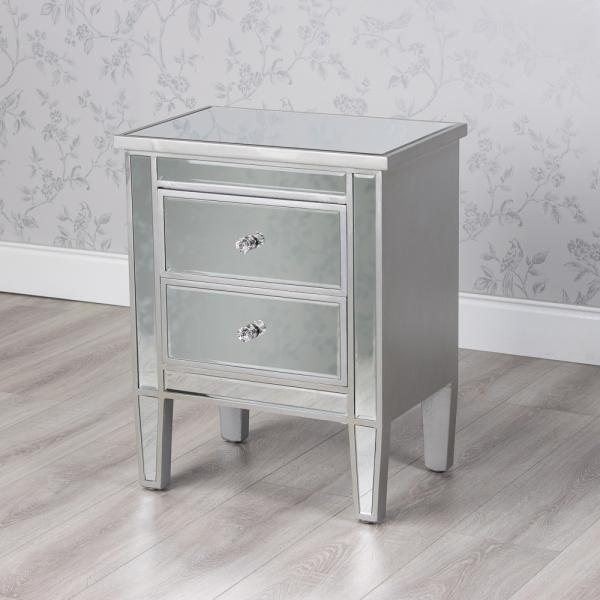 Tina Mirrored Bedside Locker